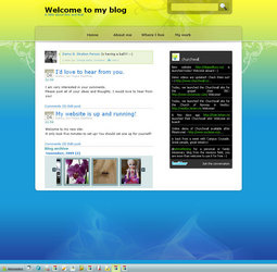 XHTML 1.0 Transitional, Fixed Width, 2 Columns